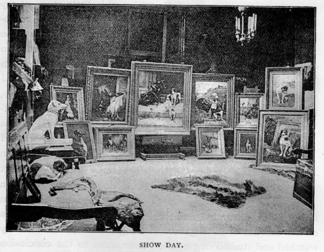 Teufel next to some of Carrington's artwork.